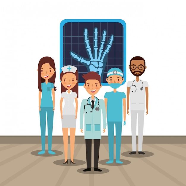 Medical health care card Premium Vector