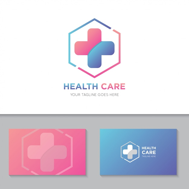 Medical health care logo and icon Premium Vector