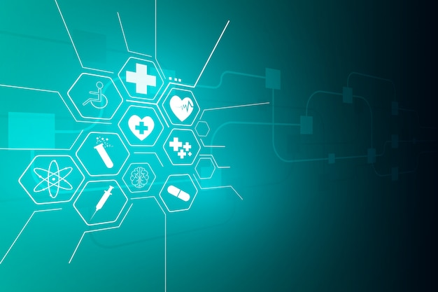 Medical health care science innovation background Premium Vector