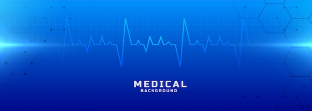 Medical and healthcare blue background banner Free Vector