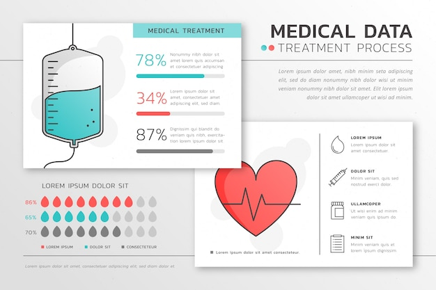 Medical healthcare infographic Free Vector