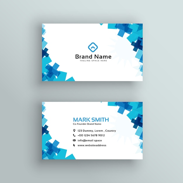 Medical or healthcare style business card design Free Vector