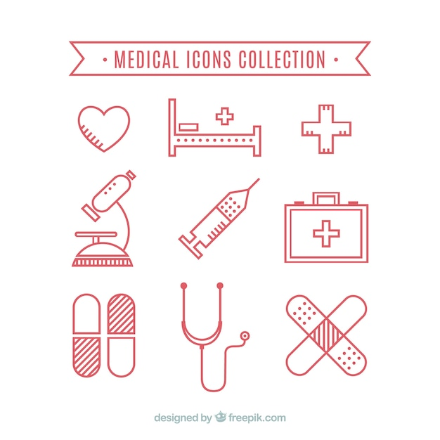 Medical icons collection