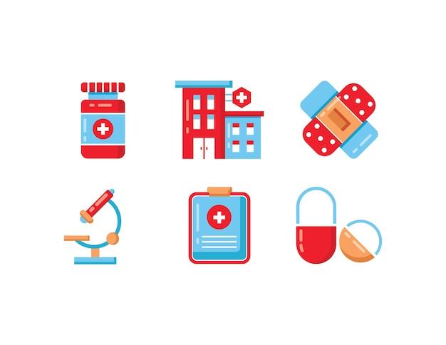 Medical icons set Premium Vector