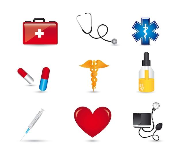 Medical icons Premium Vector