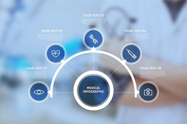 Медицинская инфографика с фотографией Бесплатные векторы