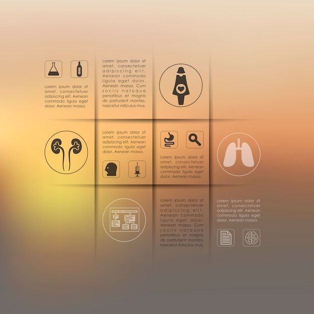 Medical infographic with unfocused background Premium Vector
