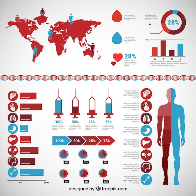 Medical Infographic Vector Free Download
