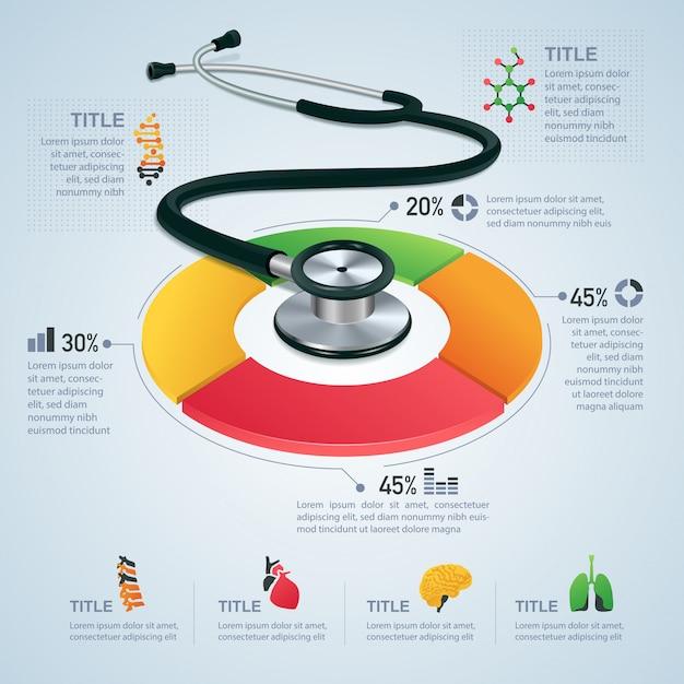 Medical infographic Premium Vector