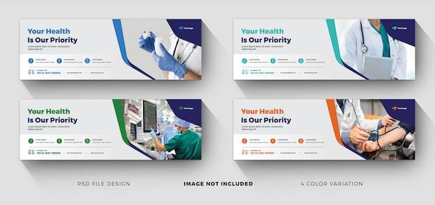 医療景観ビジネスバナーテンプレート Premiumベクター