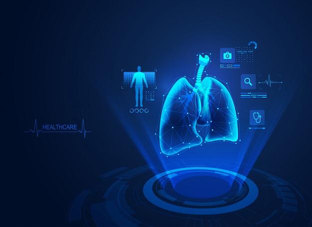 Medical lungs Premium Vector