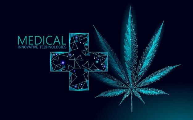 医療用マリファナの葉。医療の痛みの治療の概念を合法化します。大麻雑草薬クロスシンボル。法的状態の伝統的な処方イラスト。 Premiumベクター