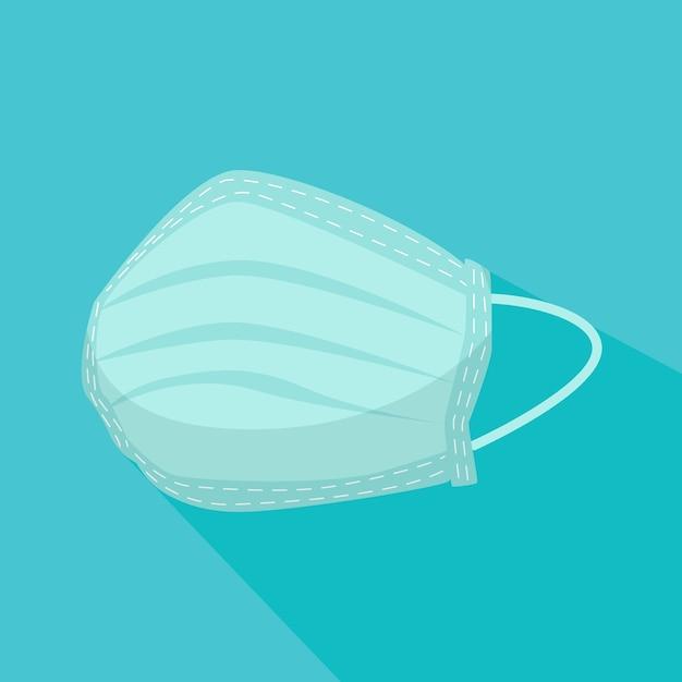 Medical mask in flat design   Free Vector