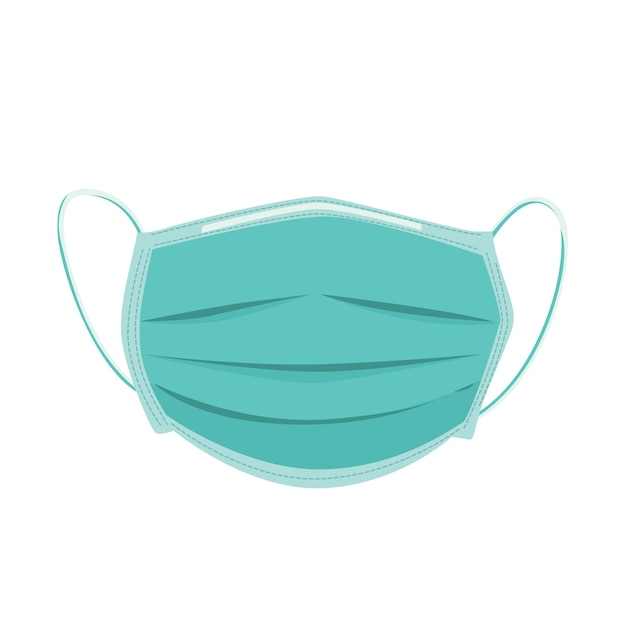 Medical mask illustration Free Vector