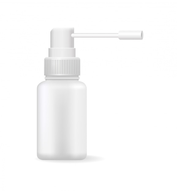 Medical means in bright bottle vector illustration Premium Vector