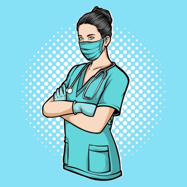 Medical nurse     illustration Premium Vector