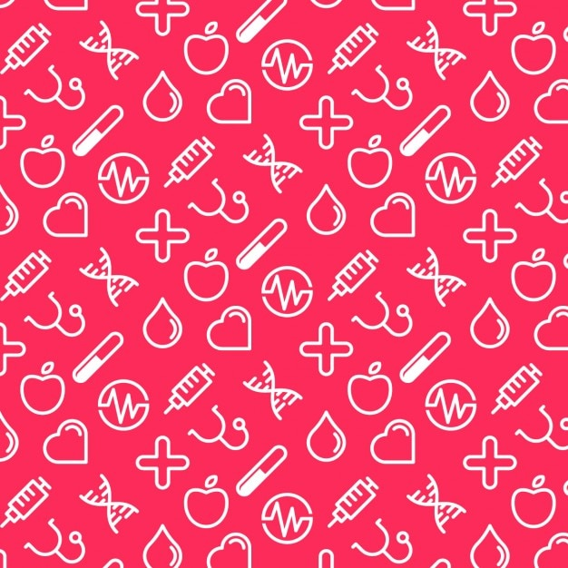 Medical pattern Free Vector