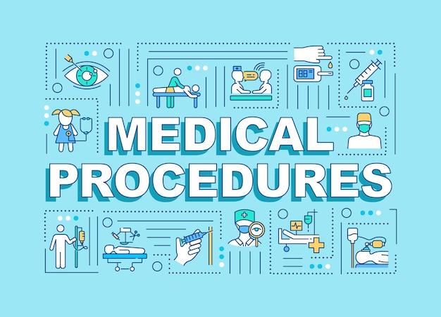 Медицинские процедуры слово концепции баннер Premium векторы