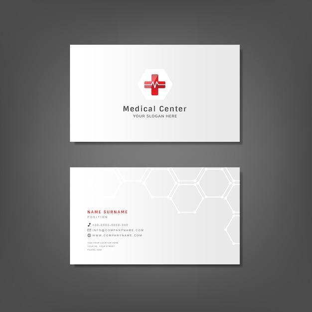 Medical professional business card design mockup Free Vector