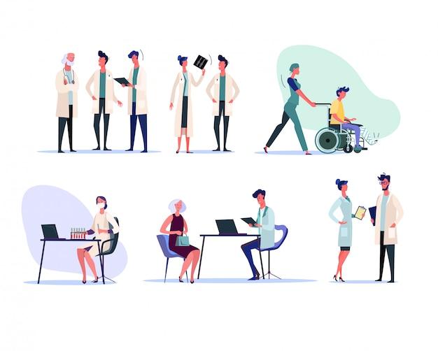 Набор медицинских работников Бесплатные векторы