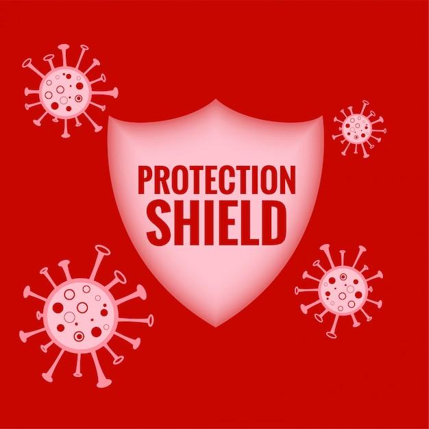 コロナウイルスを止めて破壊する医療保護シールド 無料ベクター