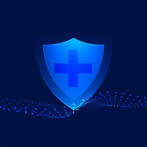 クロスサイン医療背景を持つ医療保護シールド 無料ベクター