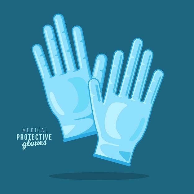 Медицинские защитные перчатки Бесплатные векторы