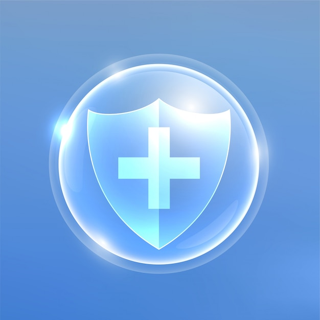 Медицинский защитный экран от вирусов и бактерий Бесплатные векторы