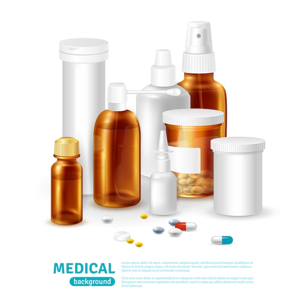 Medical realistic background Free Vector