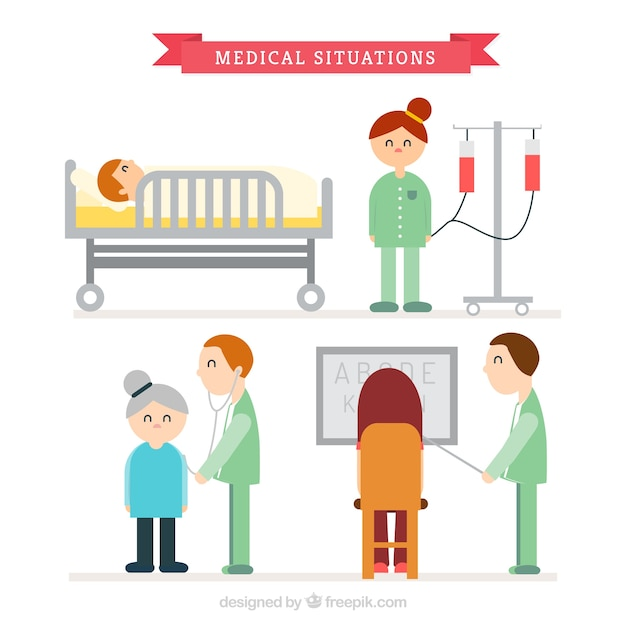 Medical situations with nice charaters