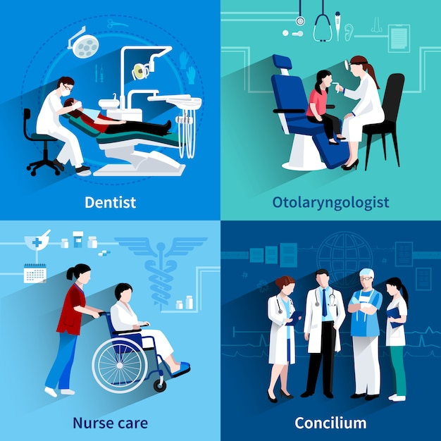 Medical specialists design Free Vector