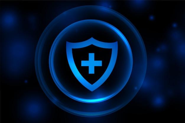 Sfondo scudo supporto medico con strati protettivi Vettore gratuito