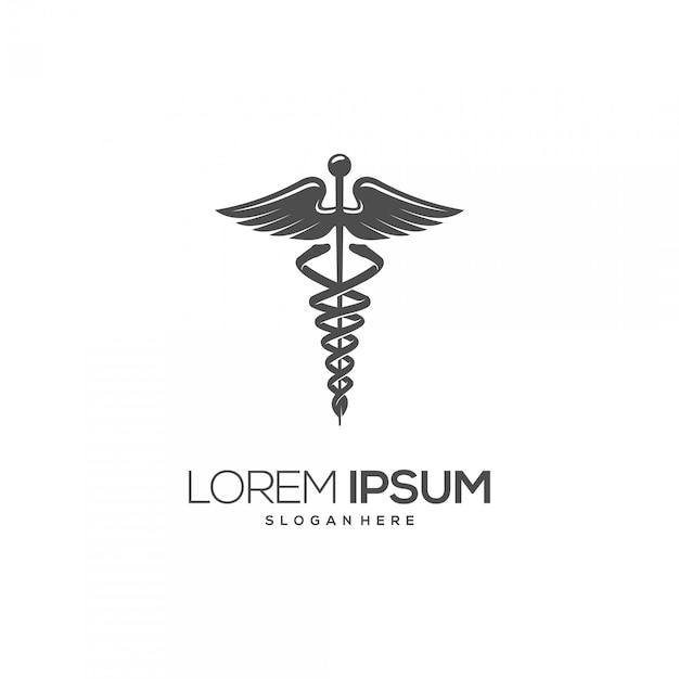 Medical symbol silhouette logo Premium Vector