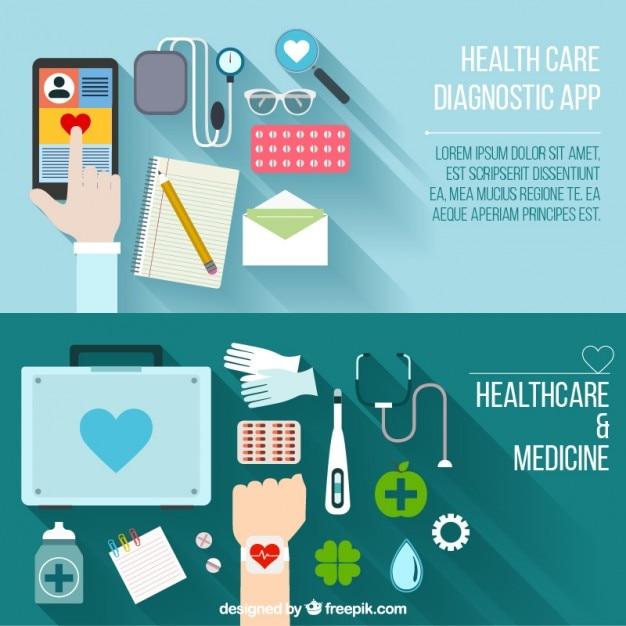 آگهی ها در محل کار پزشکی در طراحی تخت