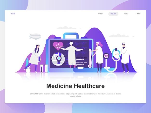 Medicine and healthcare modern flat design concept. Premium Vector