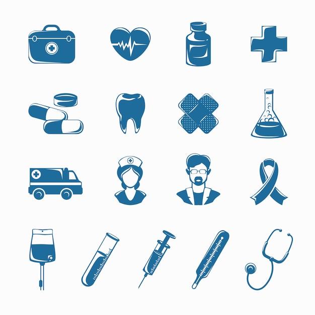 Medicine icons set Premium Vector