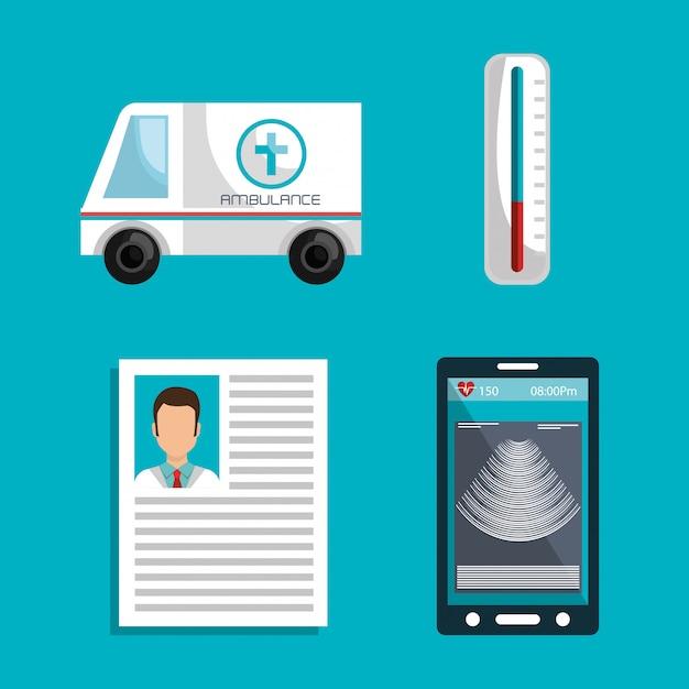 Medicine online Free Vector
