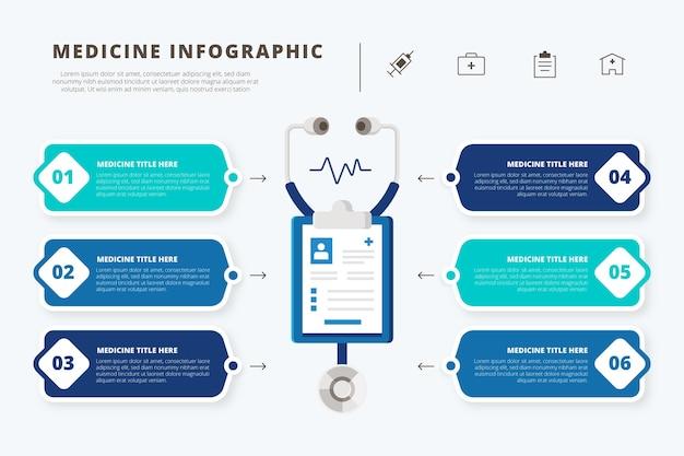 Infografica di farmaci in design piatto Vettore gratuito