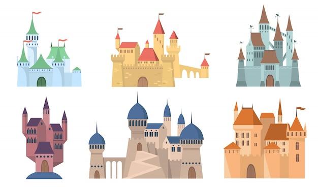 中世の城セット 無料ベクター