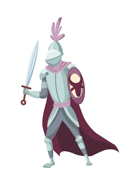 중세 역사 시대의 중세 왕국 캐릭터 프리미엄 벡터