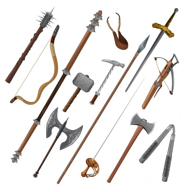Medieval weapons Free Vector
