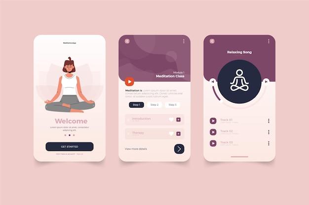 Meditation app Free Vector