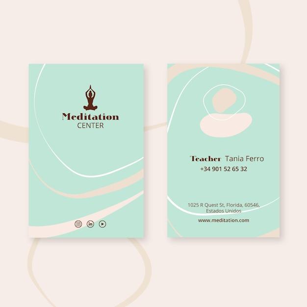 Шаблон брошюры для медитации Premium векторы