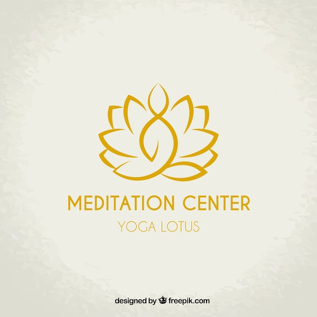 Meditation center logo Free Vector