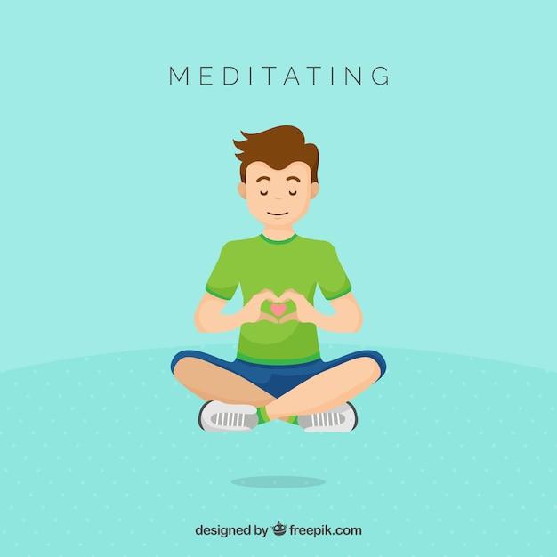 Meditation concept Free Vector