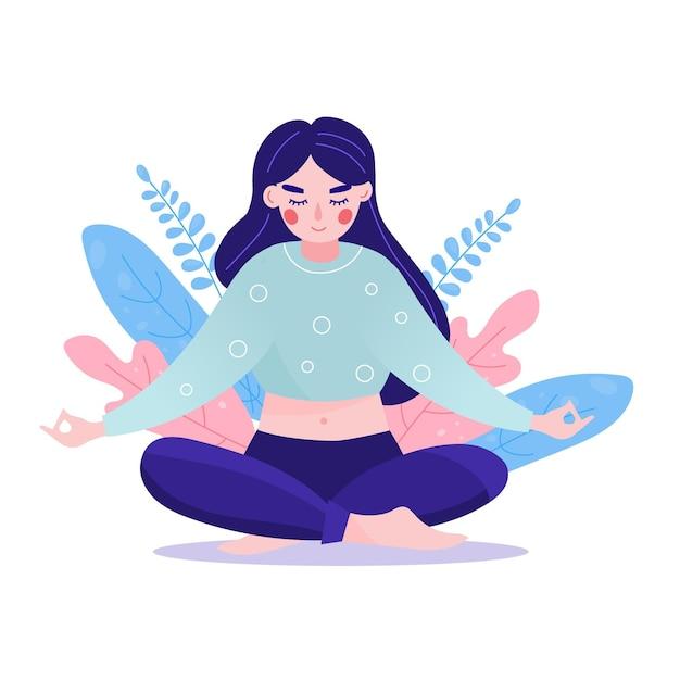 Концепция медитации Бесплатные векторы