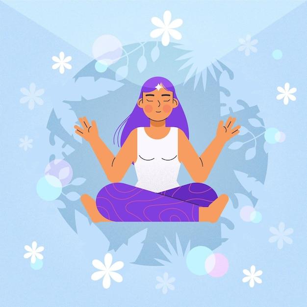 Концепция иллюстрации медитации Бесплатные векторы