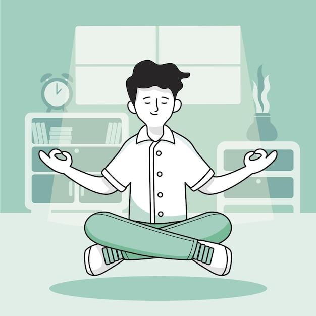 Concetto di illustrazione di meditazione Vettore gratuito