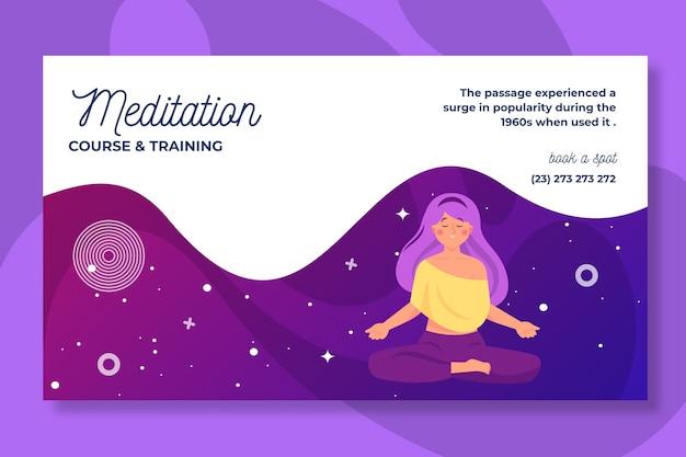 Progettazione di banner di meditazione e consapevolezza Vettore gratuito