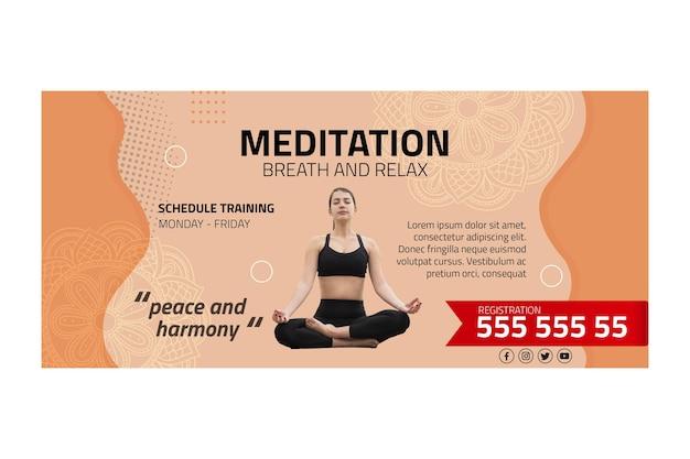 Modello di banner di meditazione e consapevolezza Vettore gratuito
